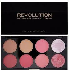 makeup revolution london ultra 8 sugar and e blush palette
