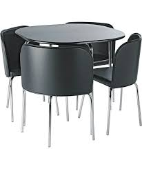 hygena amparo black dining table and 4 black 5a16711 jpg