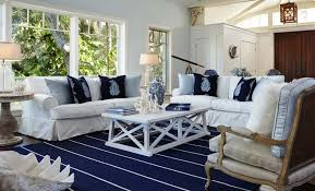 white coastal furniture. Coastal Furniture Ideas For Living Room With White Slipcovered Sofa Navy Blue Cushions And Wooden Coffee Table G