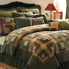 rustic comforter set green log cabin twin queen cal king size lodge quilt cotton bedroom bedding rustic comforter set