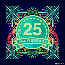 anniversary poster template 25th anniversary poster template design buy this stock vector and