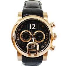 buy aigner bari gold mens watch wt black leather strap shop aigner bari gold mens watch wt black leather
