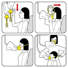 Billedresultat for sikkerhedsinstruktionerne i fly