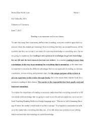 essay how important is reading for our students reina elisa merlo lara merlo 1 iris vallecillo m a didactics of literature 7
