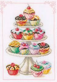 Vervaco Cupcake Anyone Counted Cross Stitch Kit Multi