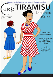 Knit Dress Pattern Impressive 48 TIRAMISU KNIT DRESS PDF Sewing Cake Patterns