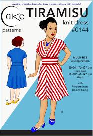 Knit Dress Pattern Impressive 48 TIRAMISU KNIT DRESS PDF Sewing Cake Patterns