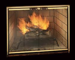 decorative fireplace glass doors