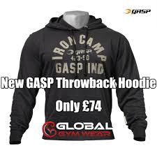 Gasp Clothing Size Chart Gasp Throwback Hoodie Gym Stuff Hoodies Gym Outfit Men