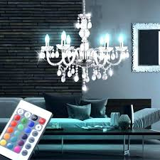 chandeliers rgb led chandelier hanging light remote control crystal clear chandeliers for low ceilings room