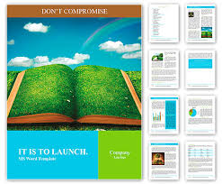 Word Of Nature Open Magic Book Of Nature Word Template Design Id 0000010268