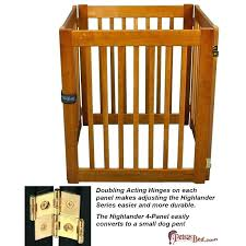 wooden dog pen dynamic accents highlander 4 panel gate converts to a small gates indoor uk wooden dog gate