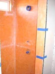 kerdi shower shower shower waterproof kerdi shower niche shelf installation