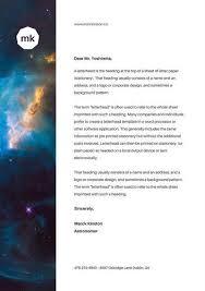 Blue Galaxy Personal Letterhead   Stationary Design   Pinterest ...