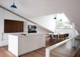 Sloped Roof Bedroom Sloped Green Roof Covers Split Level Home