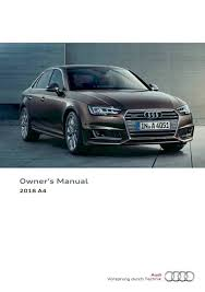 2018 audi owners manual. brilliant 2018 2018 audi a4 s4 owners manual 403 pages pdf throughout  inside audi owners manual d