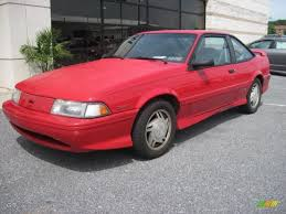 Bright Red 1993 Chevrolet Cavalier Z24 Coupe Exterior Photo ...