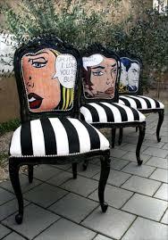 funky fun furniture black and white striped furniture