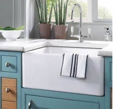 24 fireclay farmhouse apron kitchen sink white new in box apron kitchen sink