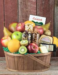 fruit cheese nuts basket
