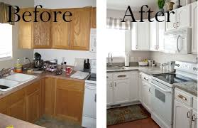 painted kitchen cabinets. Painting Kitchen Cabinets White Before \u0026 After Pictures Painted