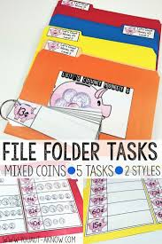 best images about special education math coins money in the bank file folders level 3
