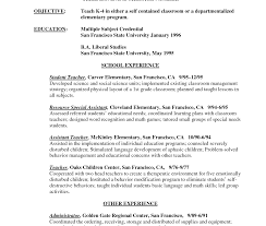 Free Teacher Resume Builder Freesume Special Education Teacher For Teachers Aide Elementary 41