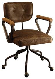 industrial office chairs.  Chairs Hallie TopGrain Leather Office Chair Vintage Whiskey In Industrial Chairs R