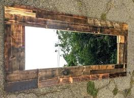 rustic wood framed mirrors. Natural Wood Framed Mirrors Rustic Burned Mirror Rugged Handmade Torch Pallet . W