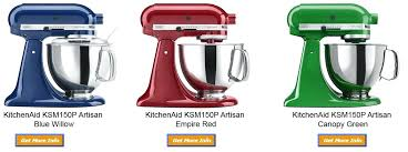 kitchen aid mixer colors artisan stand mixer blue willow empire red canopy green kitchenaid mixer ice