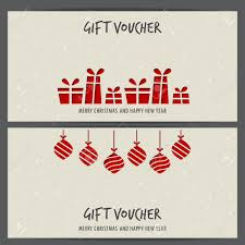 Christmas Gift Coupon Christmas And New Year Gift Voucher Certificate Coupon Template