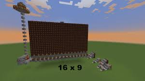 how to make a minecraft redstone lamp screen control every pixel at any size you