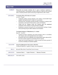 Purchasing Officer Sample Resume Purchasing Officer CV CTgoodjobs powered by Career Times 1