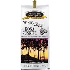 Kauai coffee, harvesting coffee, about coffee, coffee tour, review. Amazon Com Hawaiian Isles Kona Coffee Co Kona Sunrise Ground Coffee 10 Ounce Bag Ground Coffee Grocery Gourmet Food