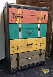 Suitcase With Drawers This Great Waterfall Dresser Was Hand Painted To Be A One Of A