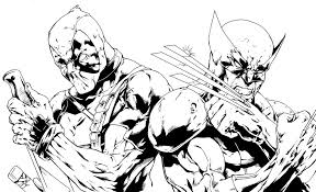 Small Picture Deadpool coloring pages to print ColoringStar