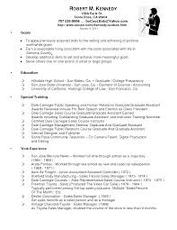 Used Car Sales Manager Resume Example Cover Letter Objective