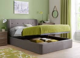 Ottoman Bedroom Furniture Cooper Charcoal Grey Fabric Ottoman Bed Frame Grey Beds And Classy