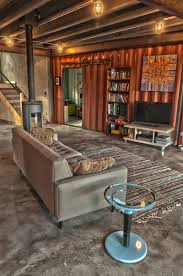 Interior Of Shipping Container Home In Colorado Shipping - Container house interior