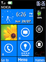 Theme Downloads Download Free Lumia Nokia Clock S40 Theme Mobile Theme Nokia Mobile