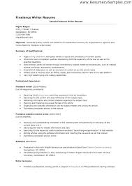 Freelance Writer Resume Objective Freelance Resume Sample Com shalomhouseus 2