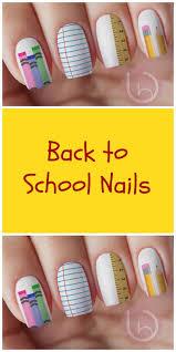 121 best School Inspired Nail Art images on Pinterest | School ...