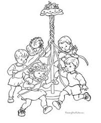Small Picture May Day coloring page Printable Fun for Kids Pinterest Craft