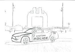 Police Coloring Page Arcadexme