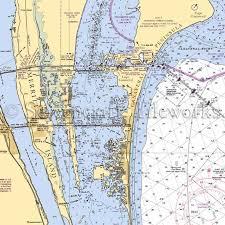 Nautical Charts Cape Coral Florida Florida Cape Canaveral Nautical Chart Decor