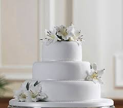 3 Tier Cake With Beautiful Lily Flowers Sri Lanka Online Shopping