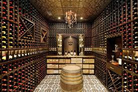 Wine Cellar with Decorative Wine Racking traditional-wine-cellar