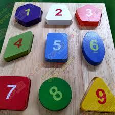 Đồ chơi xếp hình cho bé 2 tuổi, xếp hình số cho bé