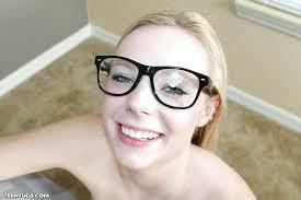 Cum shot on glasses