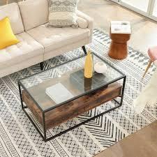 glass top coffee table coffee table